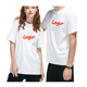 Round Neck Sublimation Sport Muscle Organic Silk Basic 96% Cotton 4% Elastane Spandex Couple T Shirt