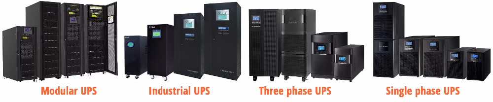 Online UPS pure sine wave double conversion system 1 phase 3 phase 120 kva ups