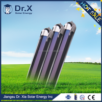 three target vacuum tube for solar collector