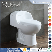 lowest price ceramic one-piece siphon flushing commode with bidet