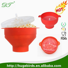 BPA-free Silicone Popcorn Maker for Microwave-Healthy and Simple Popcorn Popper