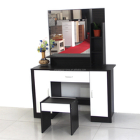 KD design melamine wooden dressing table with mirror