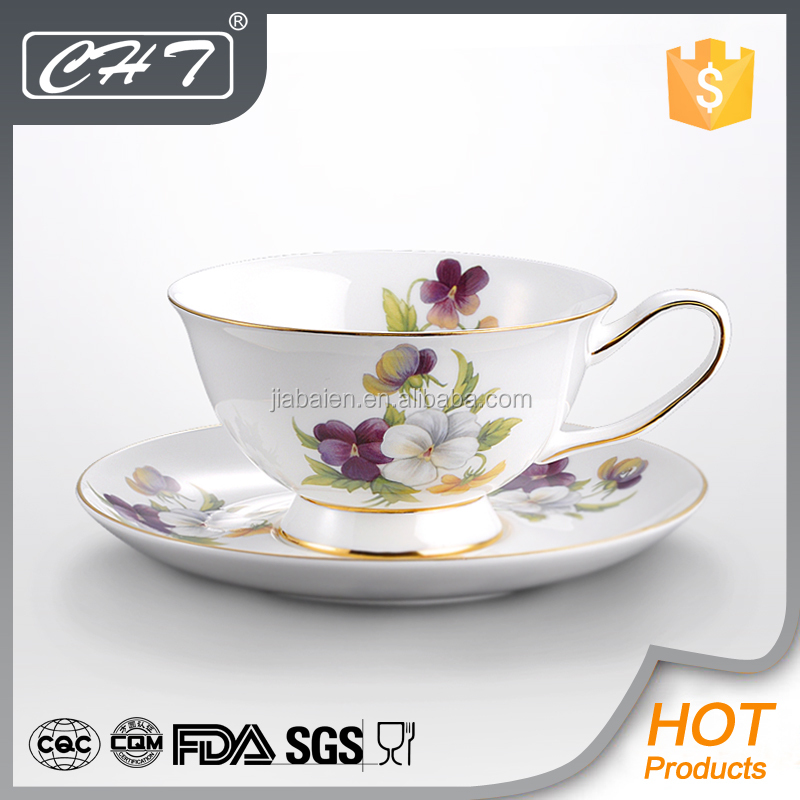 fine porcelain custom printed tea cups and saucers wholesale