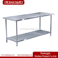 WTC-182 elevated work table, kitchen corner bench, kitchen utility table