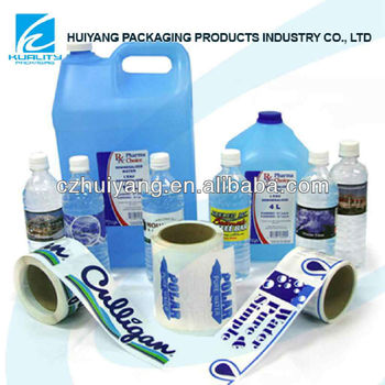 Soft PVC shrink plastic film for lamination liquid packaging on roll with vivid gravure printing