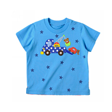 Wholesale foreign trade clothing Star prints Cartoon cute cotton round neck childrens kids t shirt