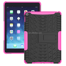 Shock absorption transformer stand armor for iPad Air 2 iPad 6 back case