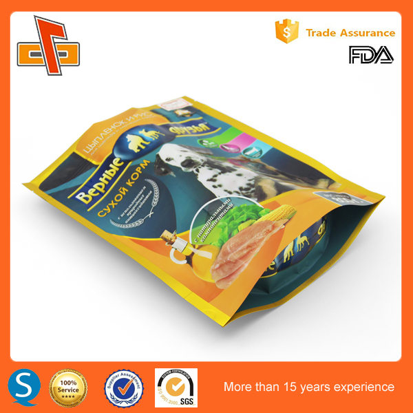 china supplier printed plastic zipper bag for dog food bag online shopping