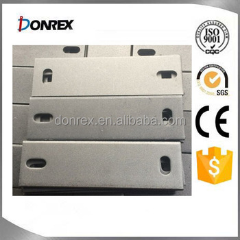Stamping and laser cutting plate with holes and drilling