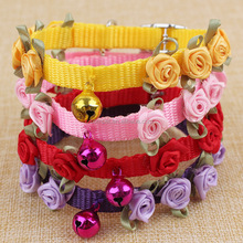 Wholesale 1.0*30cm new eight-stick flower bells nylon pet dog collar