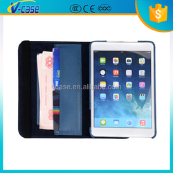 PU leather stand case with card holders for ipad 3