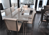 Modern Staimless Steel marble Dining table Series