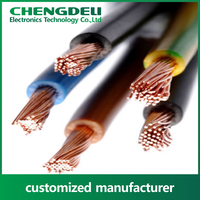 Single or stranded color coated PVC electrical wire and cable