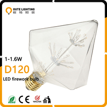 Wholesale Hanging Vintage Industrial 1.5W 1.8W Firework D120 Low Prices Led Light Bulb