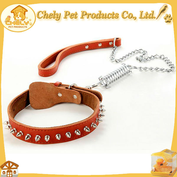 2015 Custom Elegant Appearance Leather Dog Show Lead Pet Collars & Leashes