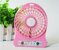 Summer Promotional Gift Outdoor USB Cooling Mini Fan with Battery