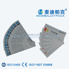 2017high quality product about class 4 sterilization indicator strip/laber