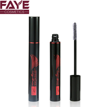 Sexy red and black 128mm length aluminum bottle plastic brush cosmetic packing mascara tube
