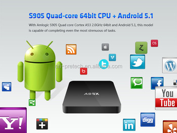 Nexbox A905X S905 Android 5.1 Penta-core GPU Quad Core OTT Android TV Box quad core TV box