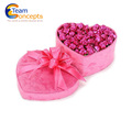 Beatiful flowers black wholesale acrylic flower box packaging gift box round rose boxes