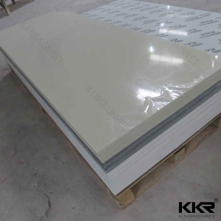 White acrylic solid surface slabs, artificial garden rock