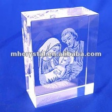 Virgin Mary 2D Laser Crystal Block MH-F0220