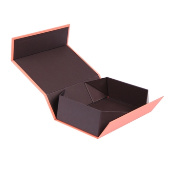 Custom cardboard collapsible flip top gift boxes with magnetic closure