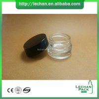 Small clear color 3ml 5ml 10ml 20 ml 30g cosmetic glass jar with PP lid