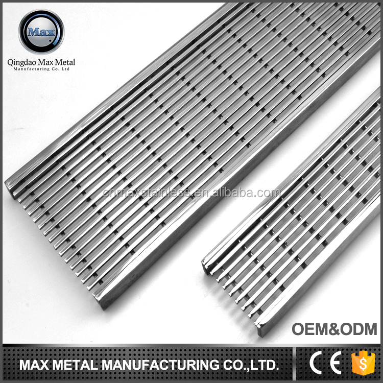 2017 new product MOQ=10pcs garage floor grate drains, shower drainage channel
