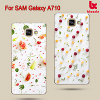 For Samsung Galaxy A710 Drawing case, for Samsung A7 2016 edition color printing case high clear blank mobile phone case factory