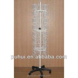 floor standing revolving metal wire custom card spinner display rack