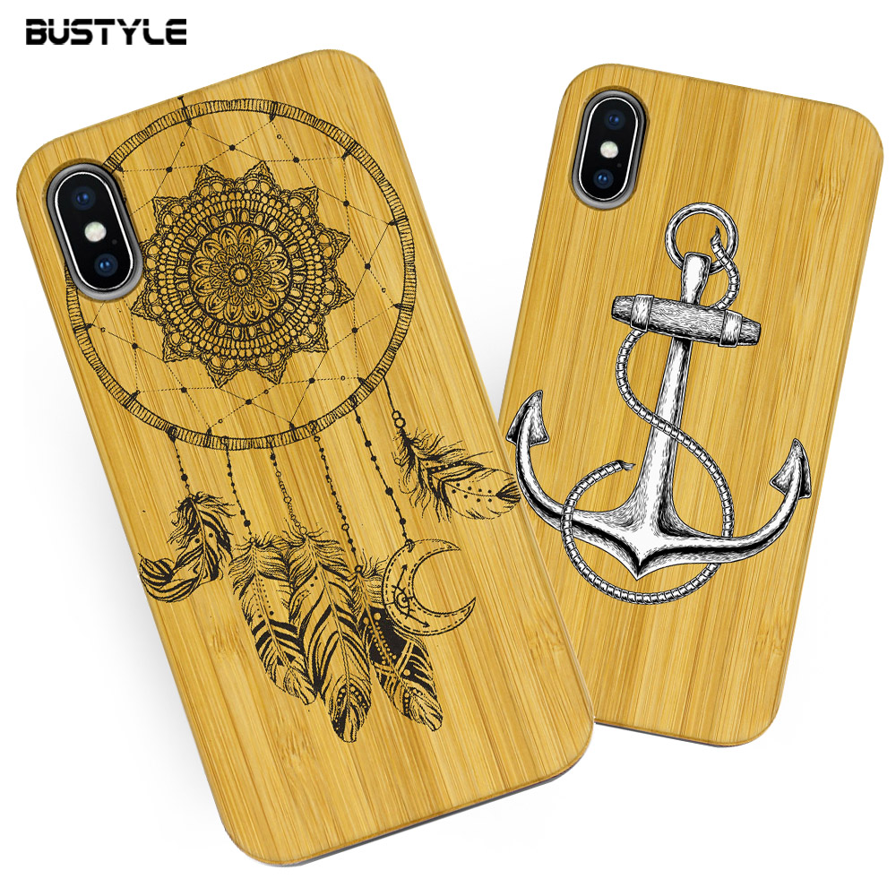 Natural Customized Design Bamboo Wood Case For iPhone 8 6 6S For Galaxy S6 S7 Cork Wood Phone Case For iPhone 7