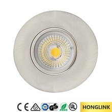 Brush Chrome Recessed Furniture 4W Dimmable LED Cabinet Light