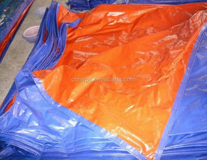 Senegal Waterproof Orange Blue Polyethylene China Tarpaulin / PE Tarps Fabric Sheet / Roll for Truck Cover