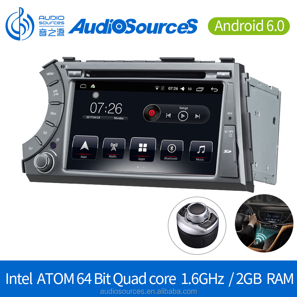 Android 6.0.1 Car DVD Player for Ssangyong Korando 2010-2013 GPS Navigation System with Carplay Bluetooth Dual-zone Navi