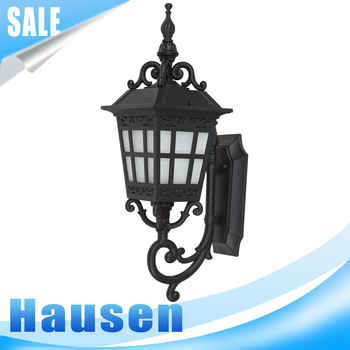 Factory price European brown gold wall light fixture outside lights