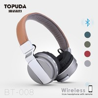 Top Quality Wireless Stereo Headphone with SD Card Ear Bluetooth Headset FM Radio Receiver