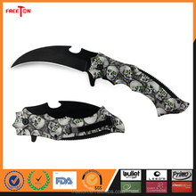 New Design Black Finish Camo Coated Army Folding Knife