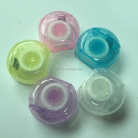 Mini round shape dental floss strawberry flavor 10m promotion gift floss