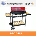 With side-shelf and wheels Easily Moving Outdoor Charcoal grill barbecue
