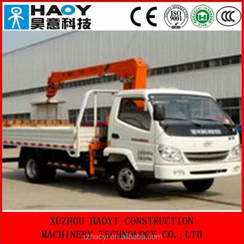 4*2 mini crane truck,truck mounted crane,cargo truck for sale