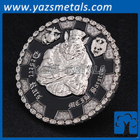 custom design relief metal 3d challenge coin