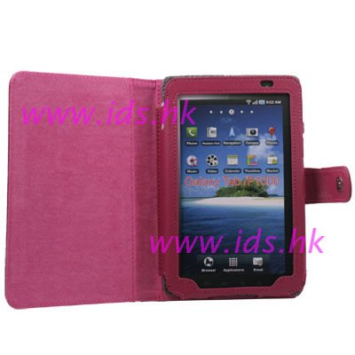 Leather Case Cover for Samsung Galaxy P1000 Purplish PK