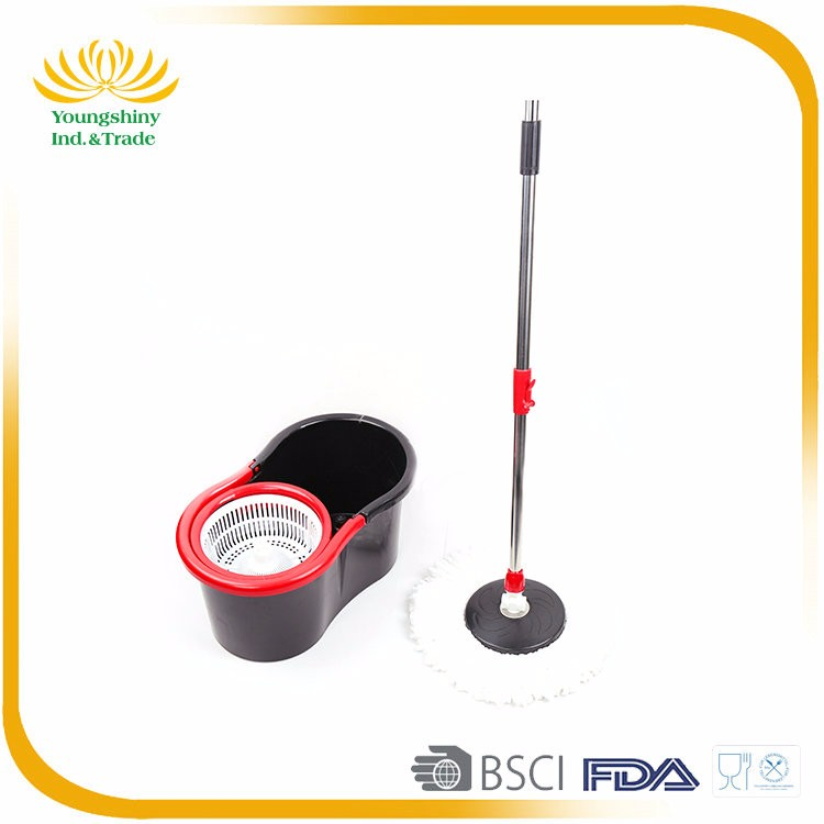 Convenient cotton 360 magic spin mop with mop bucket