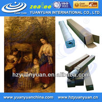 media for roll for eco solvent ink, glossy painting art canvas, Coated Canvas roll for digital printing