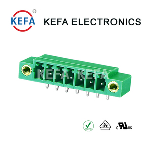 KF2EDGRM-3.81 pitch Right Angle pluggable terminal block connector with screw holes 300V 10A