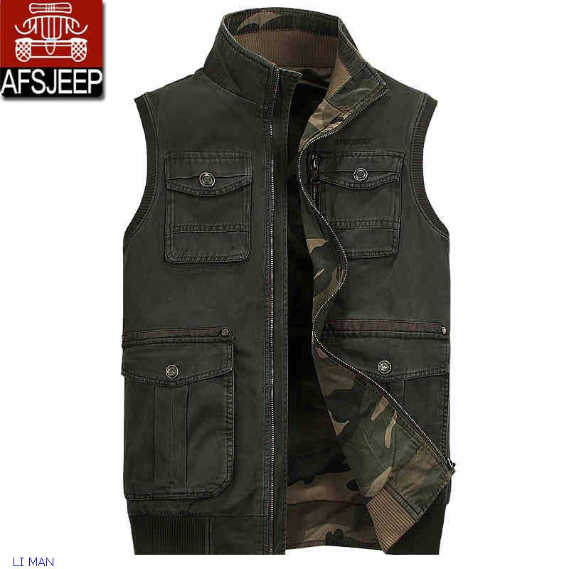 Men Outdoor Camping Hunting Fishing Camouflage Jungle Vest man colorful waistcoat plus size sleeveless jacket Fashion
