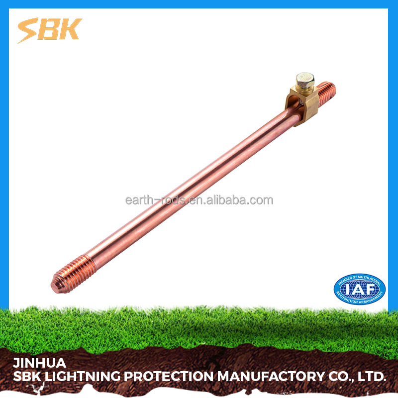 SBK Good Quality Two Ends Threaded Copper Clad Ground Rod