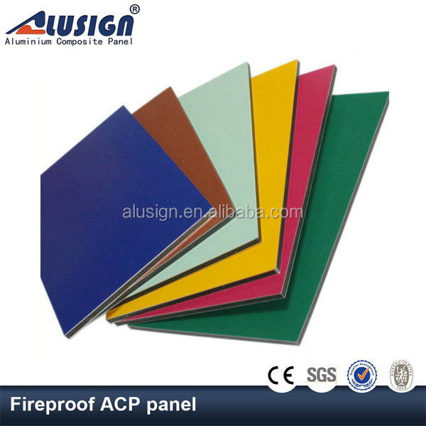Alusign China Supplier Customized Sandwich lightweight fireproof material aluminum composite panel acp sheets