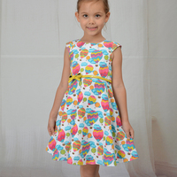 party print girl princess dress